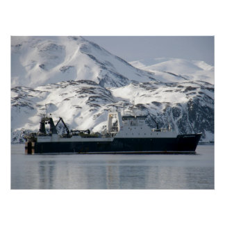 Kodiak Enterprise, Factory Trawler in Dutch Harbor Poster