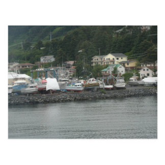 Kodiak Island Fishing Boats Postcard