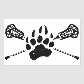 Kodiak Lacrosse - Glossy White Rectangle Sticker