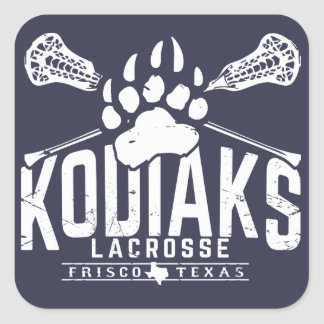 Kodiak Lacrosse - Square Blue Sticker