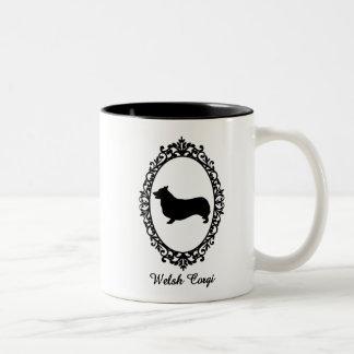kogi in mirror Two-Tone coffee mug