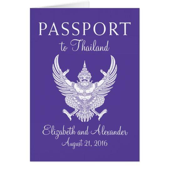 Koh Samui Thailand Wedding Passport Card