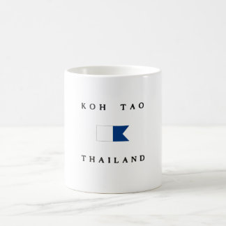 Koh Tao Thailand Alpha Dive Flag Coffee Mug