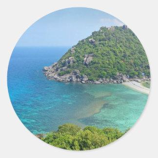 Koh Tao Thailand Classic Round Sticker
