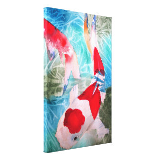 Kohaku Koi II Japanese fish original art Canvas Print