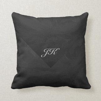 Kohl Black Monogram Personalized Throw Pillow