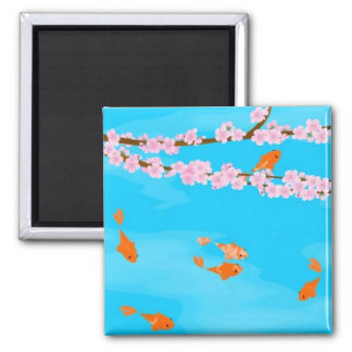 Koi and Sakura Magnet