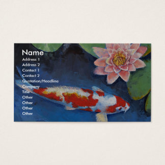Koi and Water Lily Business Card