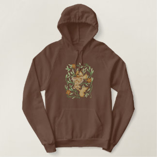 Koi Art Nouveau Embroidered Hoodie