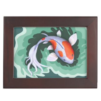 Koi Carp Art Keepsake Box