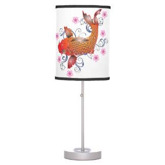 Koi carp desk lamps