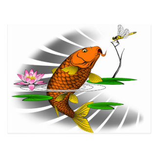 Koi Carp Fish Postcard