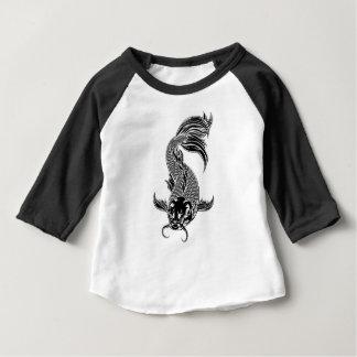 Koi Carp Fish Woodcut Style Baby T-Shirt