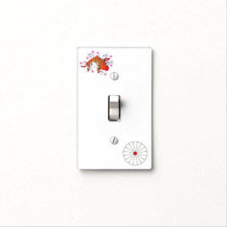Koi carp light switch cover