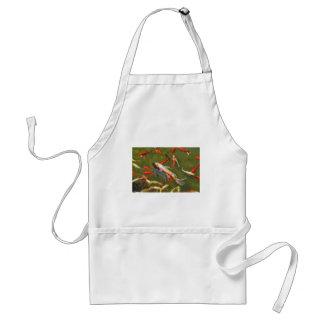 Koi carps in pond standard apron