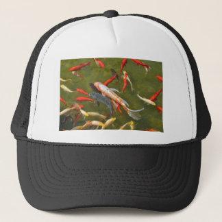 Koi carps in pond trucker hat