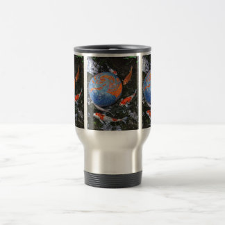 Koi Circling Travel Mug