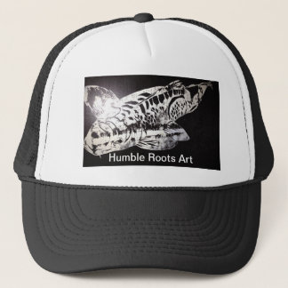 Koi Design Humble Roots Art Hawaii Trucker Hat