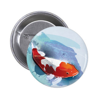 Koi fish 2 inch round button