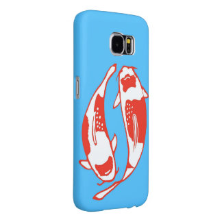 Koi Fish Blue Samsung Galaxy S6 Case