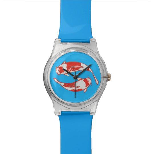 Koi Fish Blue Wristwatch