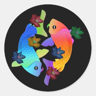 Koi Fish Classic Round Sticker