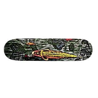 koi fish custom skate board