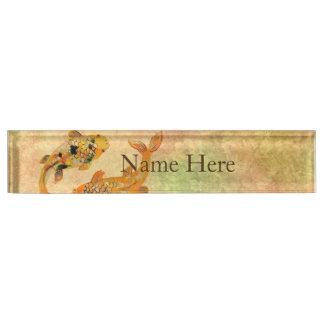 Koi Fish Desk Name Plate