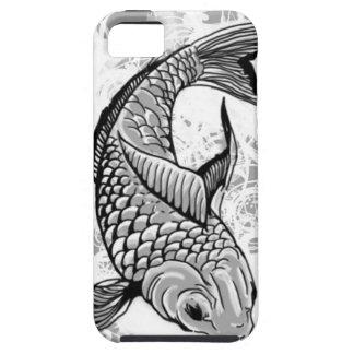 Koi fish (gray) iPhone 5 cases