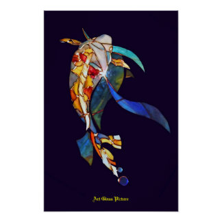 Koi fish in Space Wall Decor Artistic Picture Poster