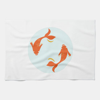 Koi Fish Kitchen Towel