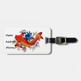 Koi Fish Luggage Tag