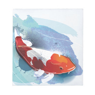 Koi fish notepad