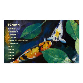 Koi fish business cards and business card templates for Fish pond business