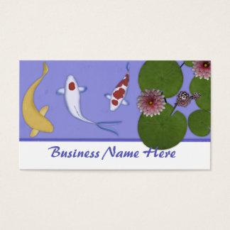 Koi Fish Pond Business Cards