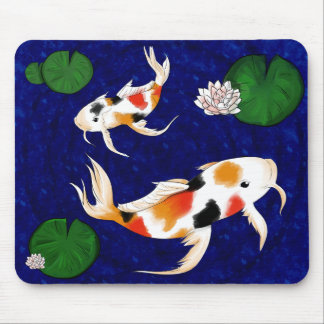 Koi Fish Pond Mouse Pad