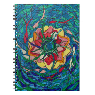 Koi Fish Pond Spiral Notebook