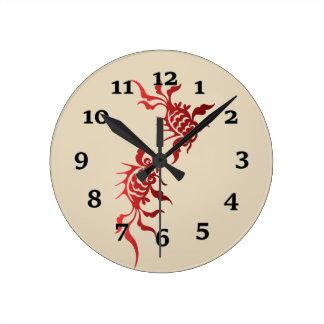 Koi Fish Round Clock