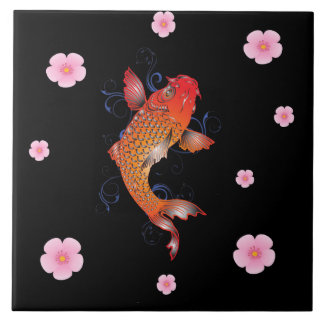 Koi Fish Sealife Ceramic Tiles