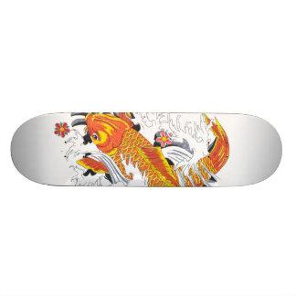 Koi fish skateboard deck