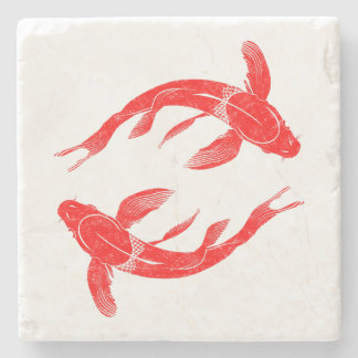 Koi Fish Stone Coaster