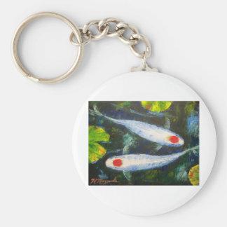 Koi Fish Tancho Kohaku Keychain
