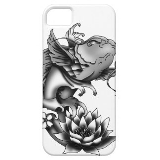 Koi fish tattoo design with lotus and cherry iPhone 5 covers