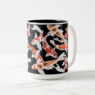 Koi fish Two-Tone coffee mug