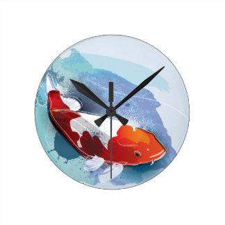 Koi fish wall clocks