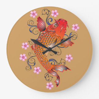 Koi fish wallclock