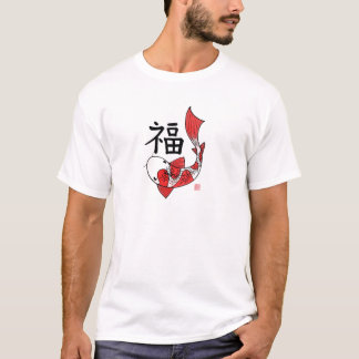 Koi Fish with Fortune Character T-Shirt