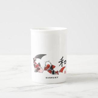 Koi Fish with Harmony Character Mug