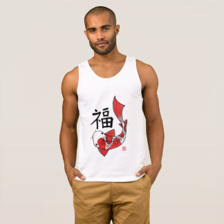 Koi Fish with Lucky Chinese Character Tank Top