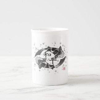 Koi Fish with Peace Character Mug